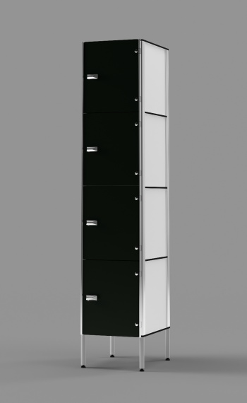 Phenolic 4-Tier Locker