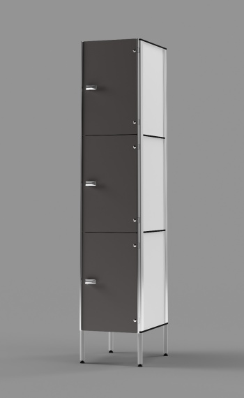 Phenolic 3-Tier Locker