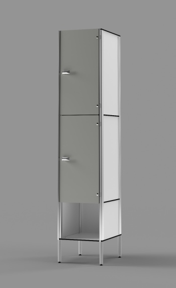 Phenolic 2-Tier Locker With Cubby
