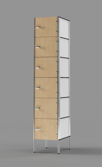 Phenolic 6-Tier Locker