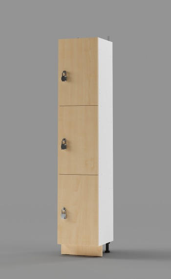 Plastic Laminate 3-Tier Locker