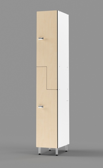 Phenolic Z-tier US-style Locker