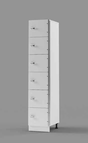 Hybrid 6-Tier Locker