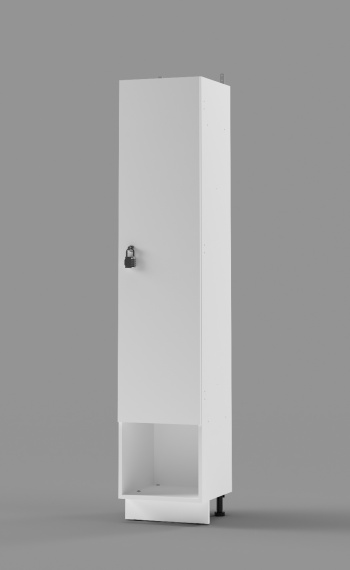 Plastic Laminate Single-Tier Locker with cubby