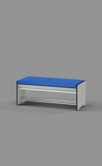 Free Standing Bench with a Seat Pad