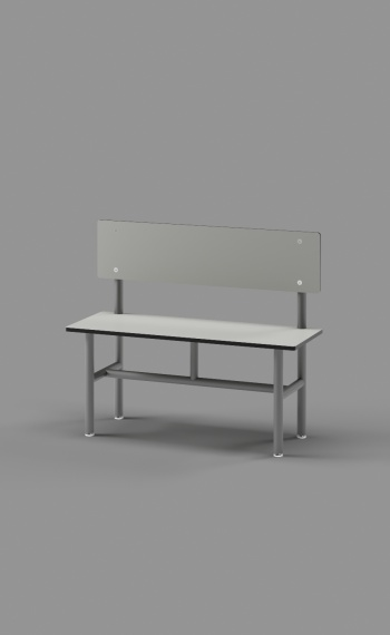 Bench with Back Support