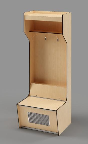 "Athletic Locker - Model: ICE HOCKEY 80""H"