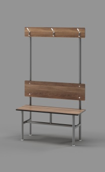 Single Bench with Clothes Hooks
