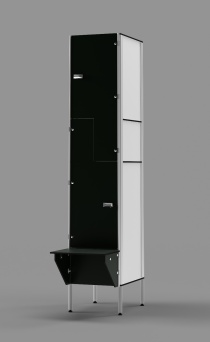 Phenolic Z-tier US-style Locker with Bench