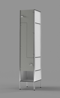 Phenolic Z-tier EU-style Locker with Cubby