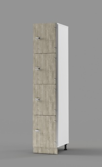 Hybrid 4-Tier Locker