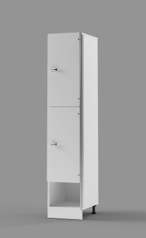 Hybrid 2-Tier Locker with cubby