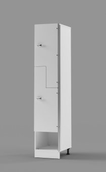 Hybrid Z-tier US-style Locker with Cubby