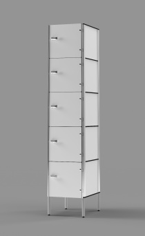 Phenolic 5-Tier Locker