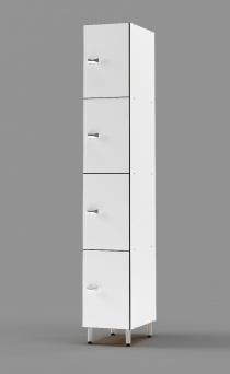 Phenolic 4 - Tier Locker