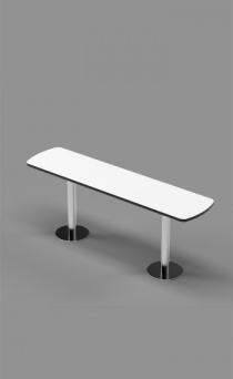 Single Bench on Stainless Steel Posts