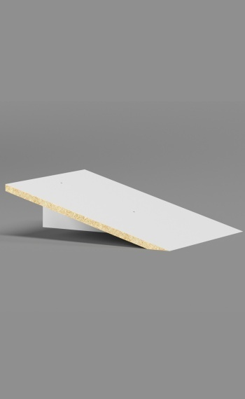 Plastic Laminate Slope Top - 1 Wide