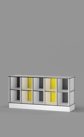 10-Cubby Floor Cabinet